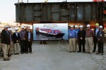 Keel laying ceremony marks milestone in construction of Crowley's first LNG-powered ships