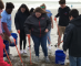 Team of local volunteers brave cold weather to clean-up Jetty Park Beach