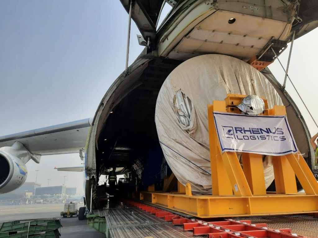 The 54-tonne rotor measured 10.50 m long, 3.89 m wide, and 4.13 m high.