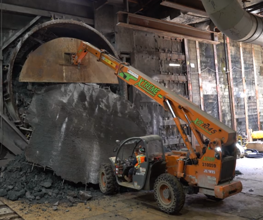 L A  Metro's first tunnel boring machine breaks through to
