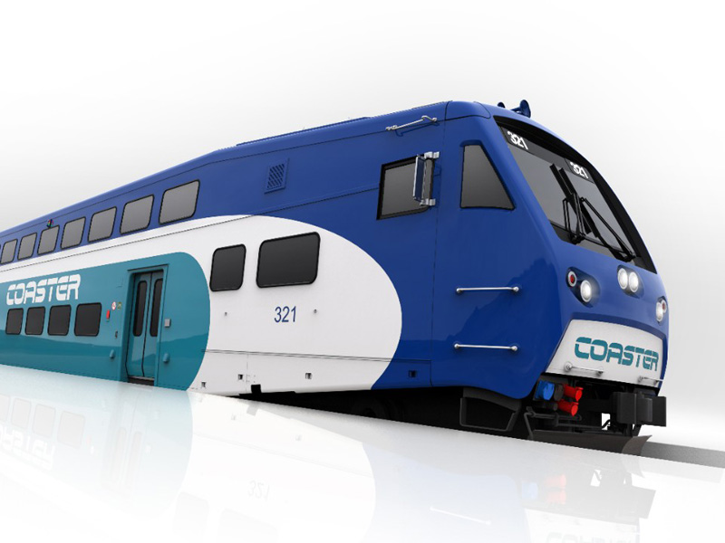 BiLevel commuter rail cars for North County Transit District.