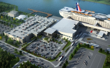 Artist rendering of Cruise Terminal 3 – expected completion June 2020.