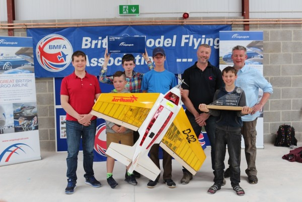 One of the winning teams of young aviators