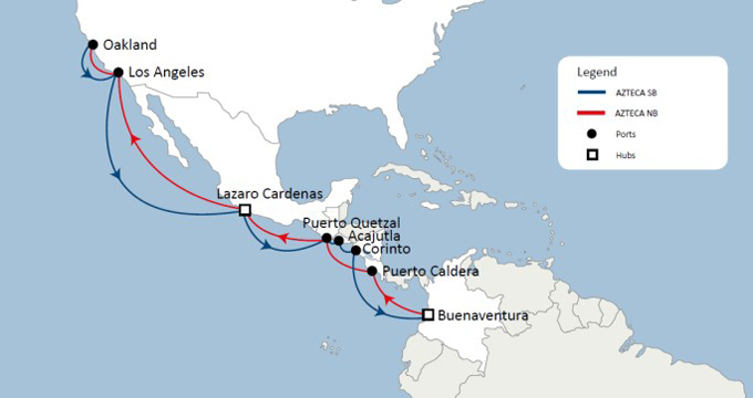 CMA CGM launches AZTECA linking the west coast ports of North