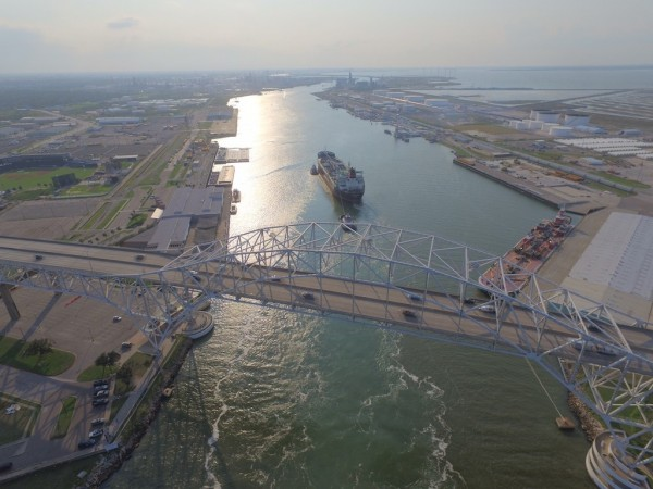 Port Corpus Christi on Aug. 31 receives its first vessel following a six-day shutdown caused by Hurricane Harvey.