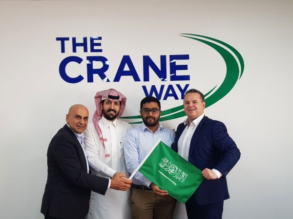 Featured from left to right: Michael Karam, Country Manager UAE & KSA, Mohammad Alshaharni, Government Relations Manager, Mufeed Mohammed Ali, Operations Supervisor, Gerard Ryan, RVP EMEIA.