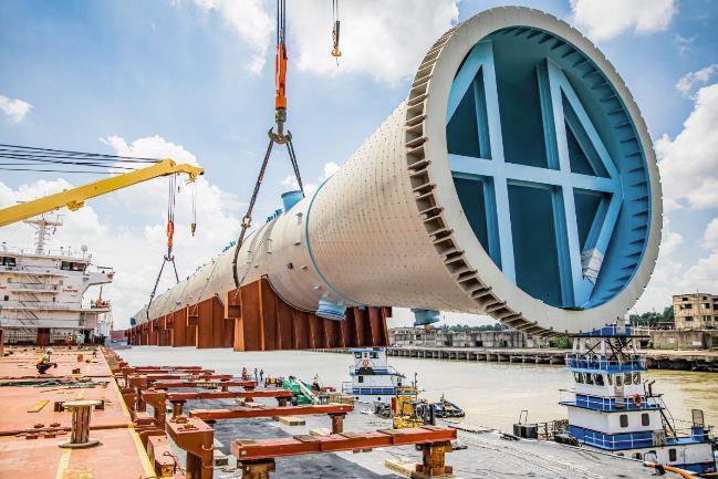 Discharging operation at Houston City Docks