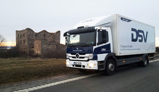 The new truck, Atego Hybrid, from Mercedes-Benz