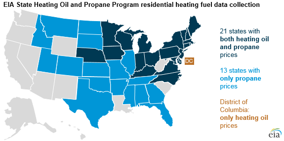 Source: U.S. Energy Information Administration, State Heating Oil and Propane Program