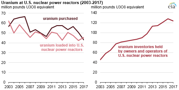 Source: U.S. Energy Information Administration, Uranium Marketing Annual Report