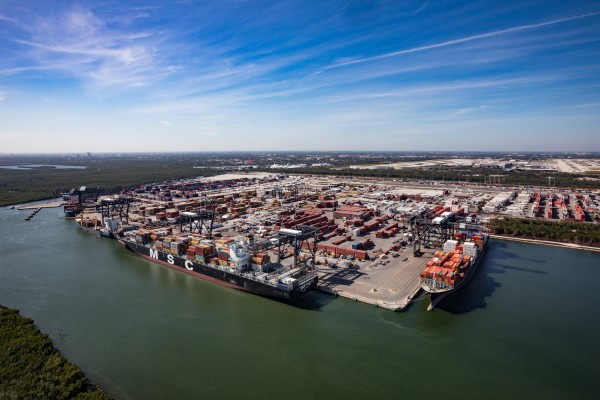 The Southport Container Complex at Port Everglades is site of the largest infrastructure endeavor in the Broward County port's history.