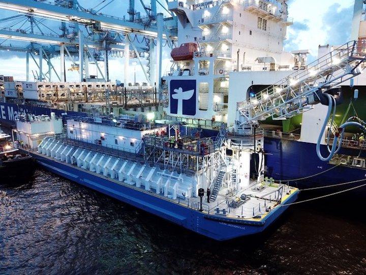 LNG bunker barge Clean Jacksonville at JAXPORT's Blount Island Marine Terminal