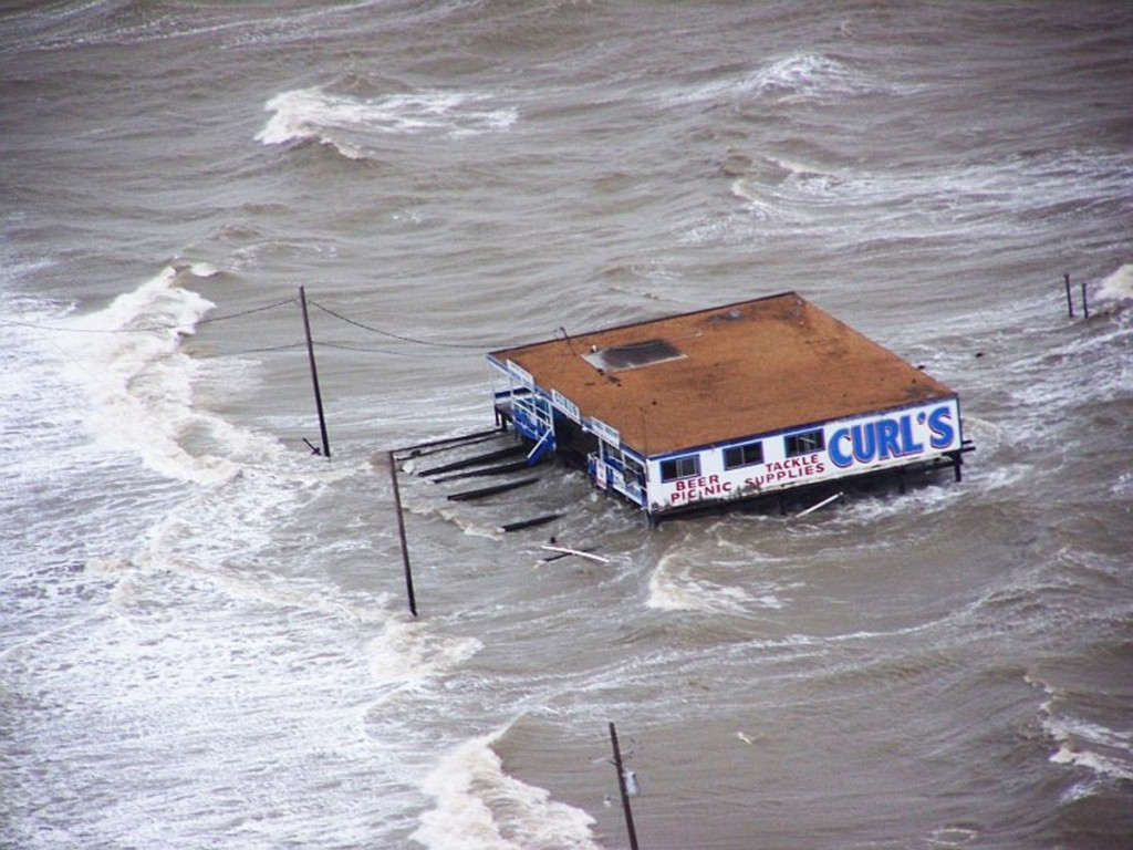 Storm surge in Texas