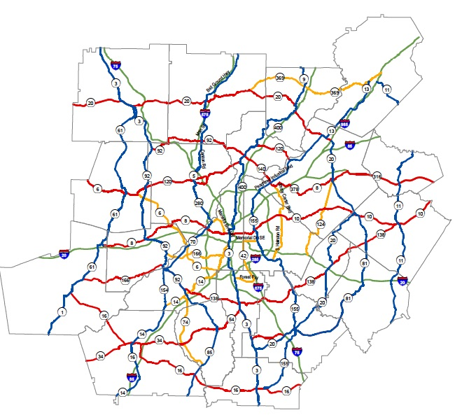 I 85 Collapse Atlanta Map.A Section Of I 85 Has Collapsed In North Atlanta Ajot Com