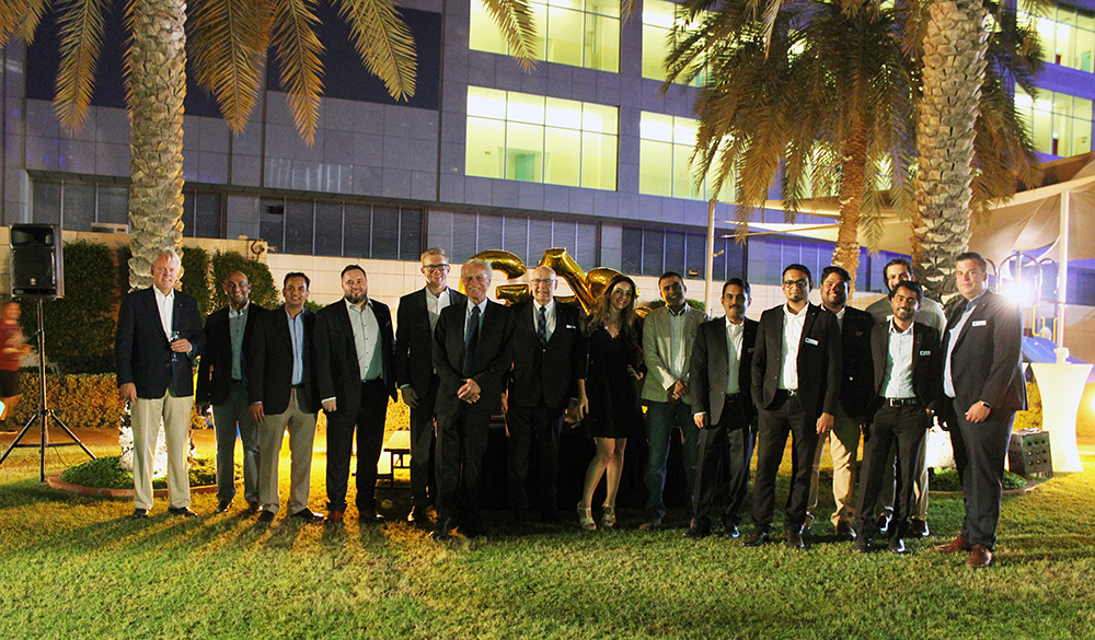 Part of the management and staff from GAC Abu Dhabi and GAC Group at the 50th anniversary celebration