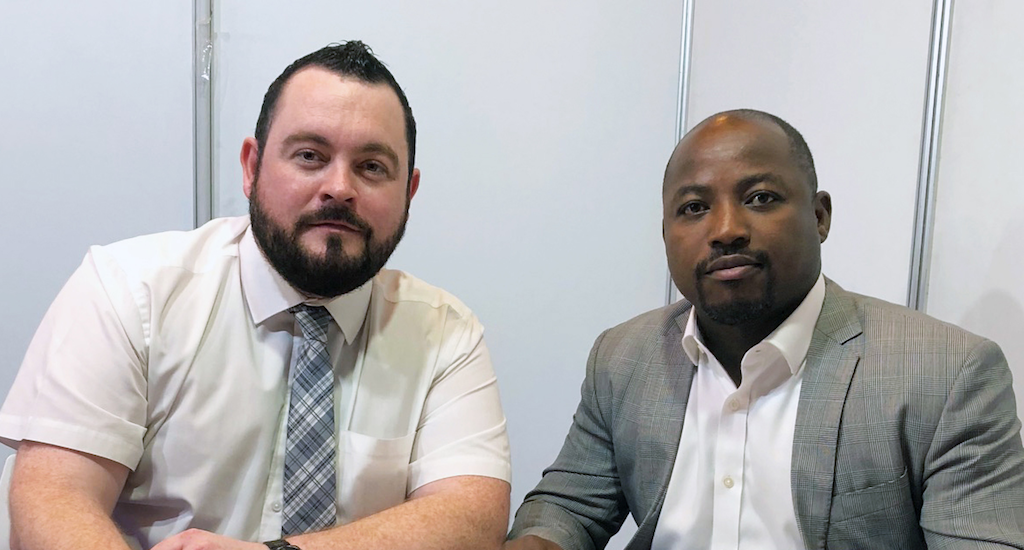 (Top): Stewart Hendry, left, Head of Shipping and Oil & Gas of GAC Saudi Arabia and Bode Gbadamosi, right, General Manager of Fendercare Marine Middle East pictured together.