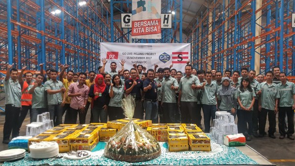 A simple ceremony was held at GSL's Surabaya warehouse to celebrate the commencement of the Cussons project.