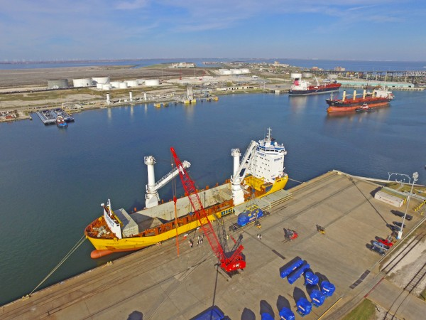 General cargo operations on the Inner Harbor at Port Corpus Christi