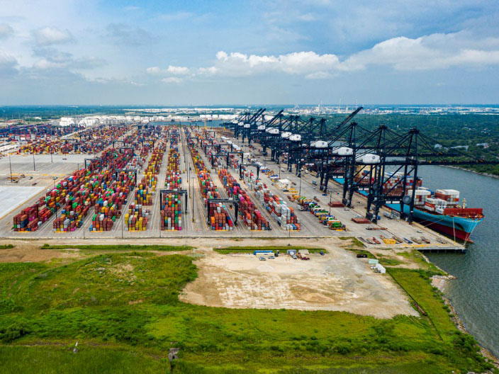 Container activity remaining busy at Bayport Container Terminal