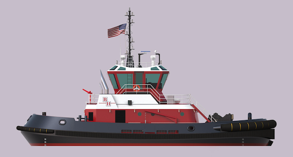 Rendering of Bay Houston Towing Co. Tugboat Being Constructed by Master Boat Builders
