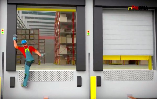 Personnel falling from an unguarded loading dock is just one potential accident that ProGMA members' equipment can help to avoid.