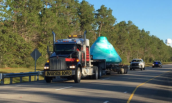 Mammoet transporting the Apollo 4 capsule from the NASA Stennis Space Center