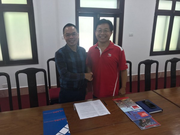 The MoU was signed by Mr. Hoang Minh Khoi (Lilama Corporation, left) and Mr. ChongKook Cho (Mammoet, right) in September in Hanoi, Vietnam.