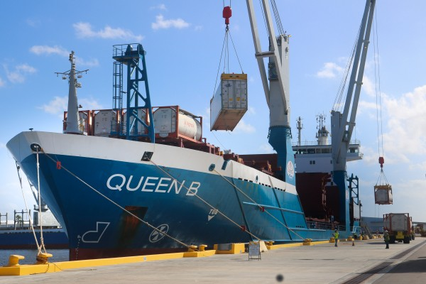 At Port Manatee, cargo is offloaded from World Direct Shipping's M/V Queen B, which is soon to shift to a new weekly service from Mexico's Port of Tuxpan, while an additional vessel is deployed between Coatzacoalcos, Mexico, and Port Manatee.