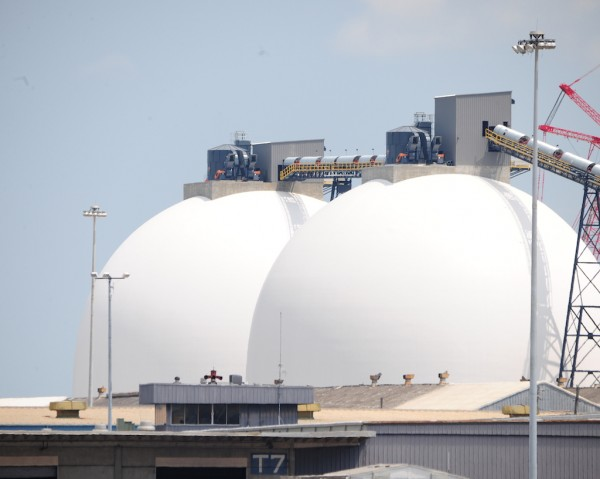 Wilmington, N.C. U2013 The Enviva Wood Pellet Domes At The Port Of Wilmington  Are Operational And Loading The First Export Shipment To Europe This Week.