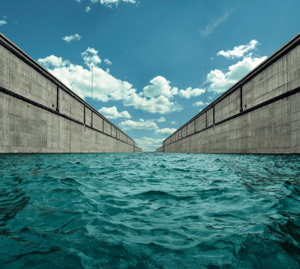 An up close and personal view from inside a chamber of the new Atlantic-facing Agua Clara Locks.