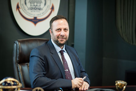 Panos Kirnidis, Chief Executive, Palau International Ship Registry, in his new European Head Office in Piraeus, Greece.