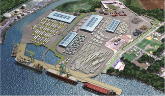 An artist's rendering of the completed Port of Paulsboro