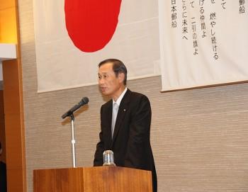 NYK president Yasumi Kudo