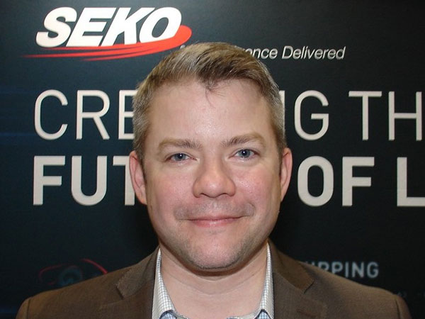 At the Retail Industry Leaders Association's LINK 2019 supply chain conference, Brian Bourke, SEKO Logistics' vice president of marketing, extols virtues of his firm's partnership with Easyship.