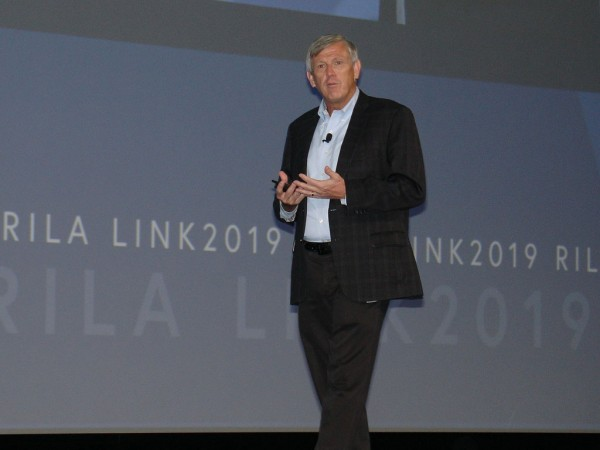 Dick Johnson, chairman, president and chief executive officer of Foot Locker Inc., kicks off the Retail Industry Leaders Association's LINK 2019 supply chain conference.