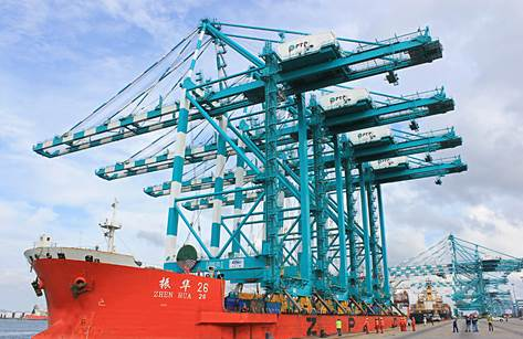 PTP is the first port in Southeast Asia to welcome the region's tallest ship-to-shore quay cranes.