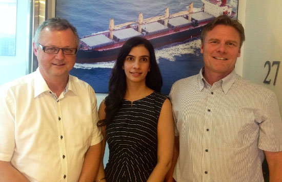 From (L-R): Kim Skaarup, Chief Operating Officer of ShipServ, Sharon Gill, VP of Sales for ShipServ with Mik Stoustrup, Managing Director of ID Ship Management. (High Res pic available on request.)