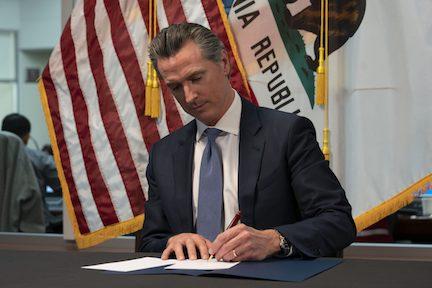California Governor Gavin Newsom