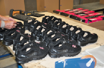 Skechers DC location in Liege, Belgium facilitates shipping footwear to customers in Germany and the UK. (Photo by Michael R. Hawley)