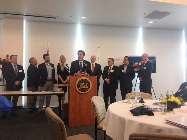 Congressman John Garamendi (D-CA) speaks to California maritime executives