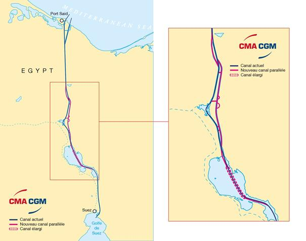 Suez C: an inevitable route for the CMA CGM Group   AJOT.COM New Map Of Suez C on naqada map, beirut map, library of alexandria map, tokyo map, djibouti map, strait of hormuz map, pithom map, red sea map, ras gharib map, sinai map, jerusalem map, bombay map, assiut map, khartoum map, aden map, giza egypt map, middle east map, mogadishu map, elburz mountains map, bay of bengal map,