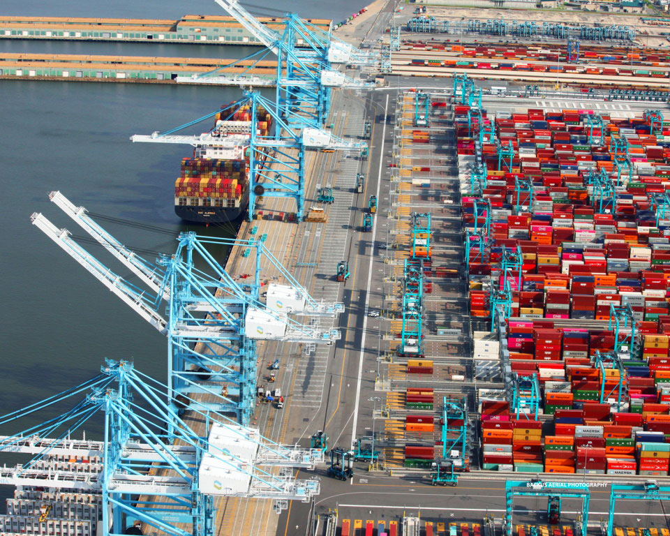 The newly reconfigured south berth container yard area at Norfolk International Terminals is among products of an $800 million investment delivering more than 1 million TEUs of additional annual capacity at The Port of Virginia.