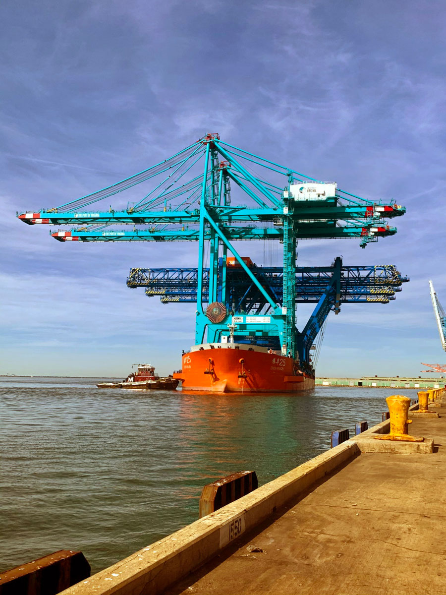 The recent arrival of two new super-post-Panamax gantries at Norfolk International Terminals furthers The Port of Virginia's capabilities to efficiently accommodate multiple megacontainerships.