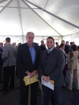 John Donohue, trade development specialist, and DNE World Fruit Sales' Stuart Evens