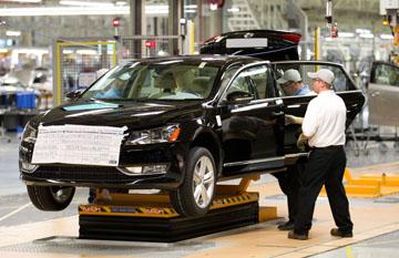 VW's Chattanooga, TN auto plant