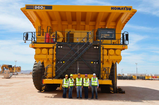 Importation of Komatsu 960 dump trucks shipped by WFS from Houston in the USA to Walvis Bay, Namibia. WFS were involved in the complete logistics from Houston to the mine site in Namibia.