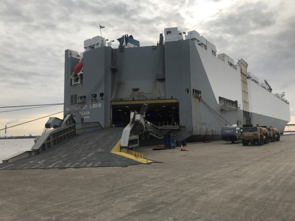 m/v Alliance St. Louis at the Port of Wilmington, Delaware on Jan. 7, 2019