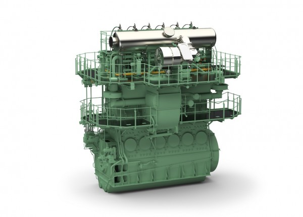 WinGD X-DF engine with low-pressure gas admission